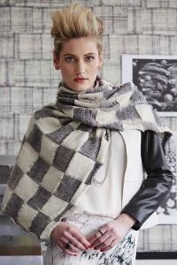 Ikat wrap, Vogue Knitting Early Fall 2014