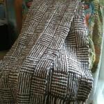 Finished log cabin scarf