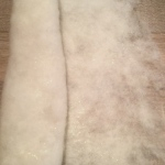 felt--made from llanwenog fleece and angelina fiber.