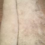 felt--made from llanwenog fleece and angelina fiber.