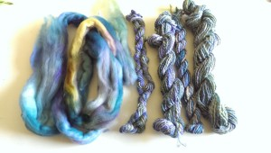 Roving, single, two-ply, chain-ply three-ply, three-ply
