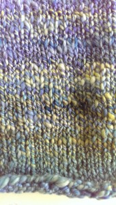 Two-ply close-up: marled yellows