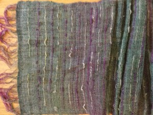 Dyed warp, Saori-style accents