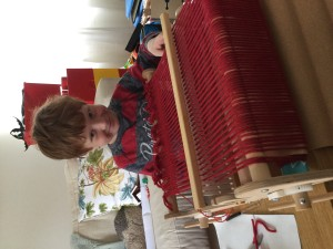 Kids love rigid heddle loom