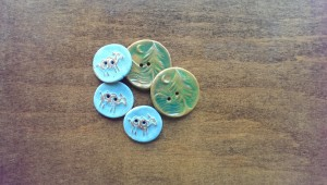 Locally crafted ceramic buttons made by BeadFreaky that I found on Etsy