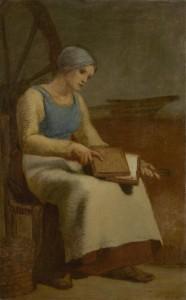 Millet's Woman Carding Wool