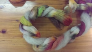 Three-ply with heathered roving and alpaca