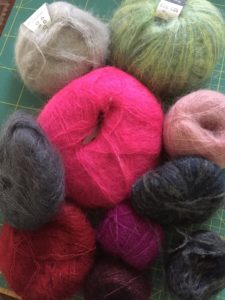 Nine colours ready to knit