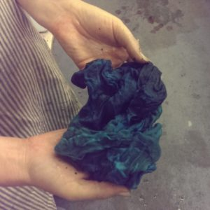 Straining cloth after half an hour